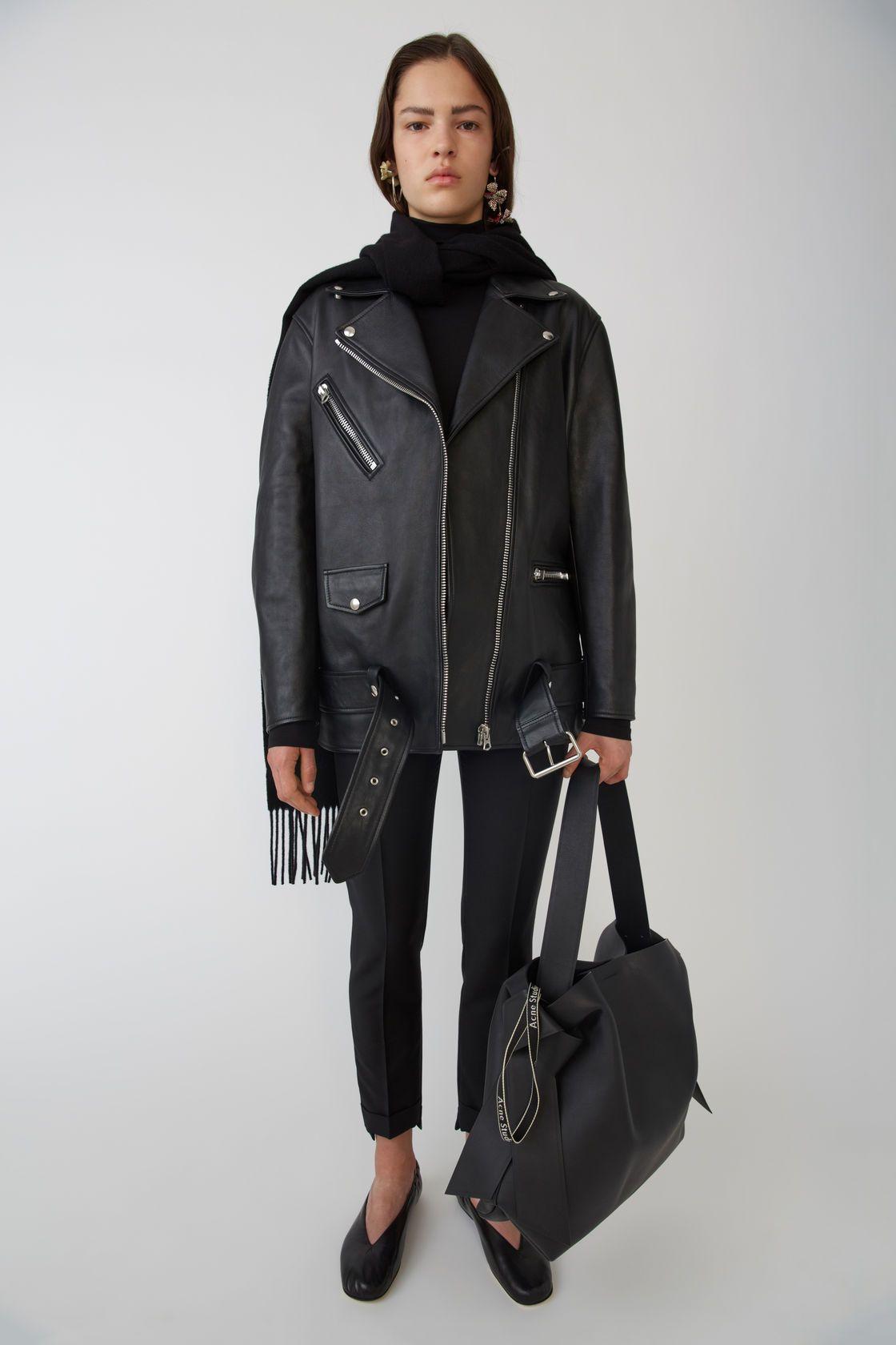 Acne Studios Oversized Leather Jacket Biker Jacket Outfit Women Best Leather Jackets Leather Jacket