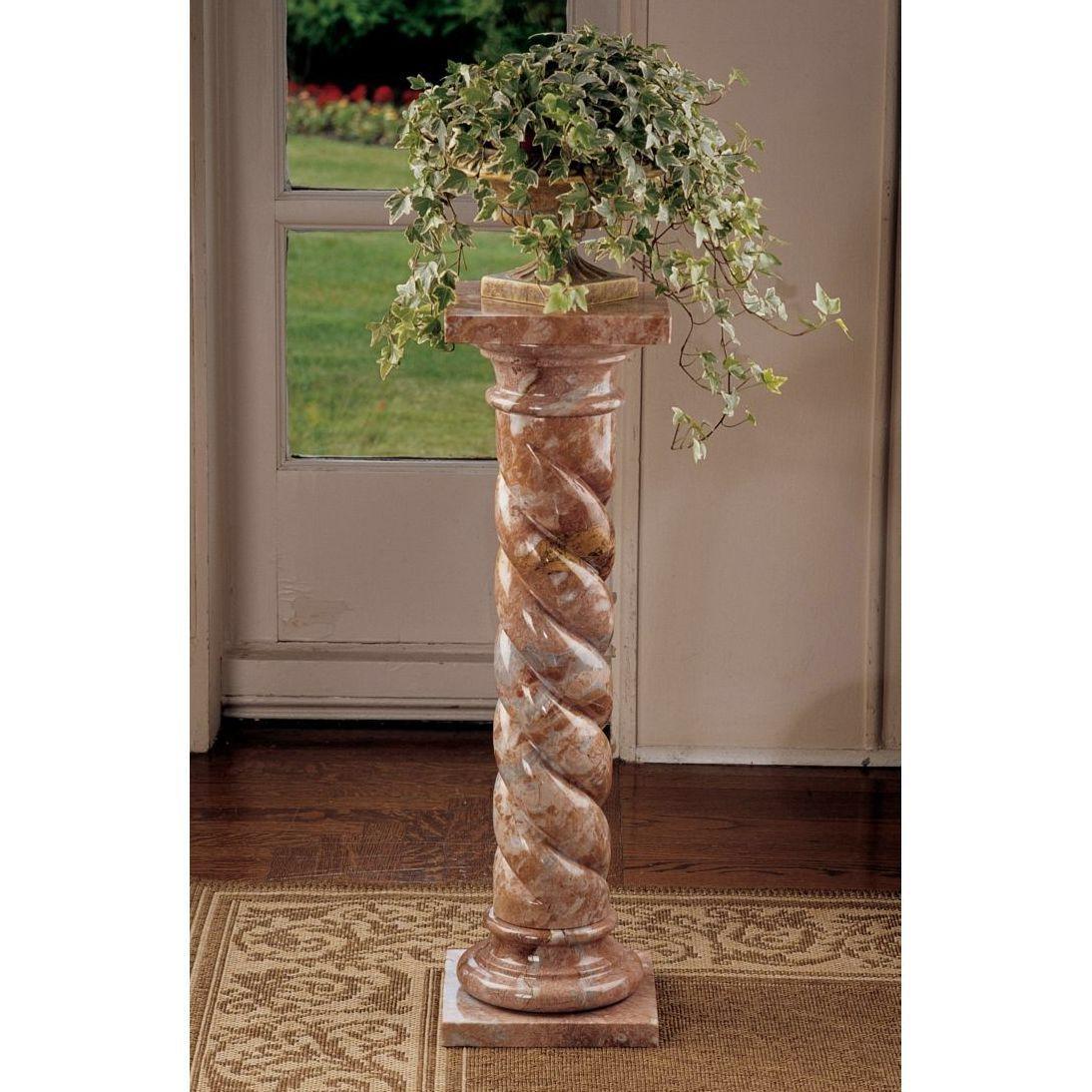 Black Mdf Wood Plant Stand Column Pedestal Tables Flower Pot Holder Black Plant Stand Plant Stand Plant Pedestal