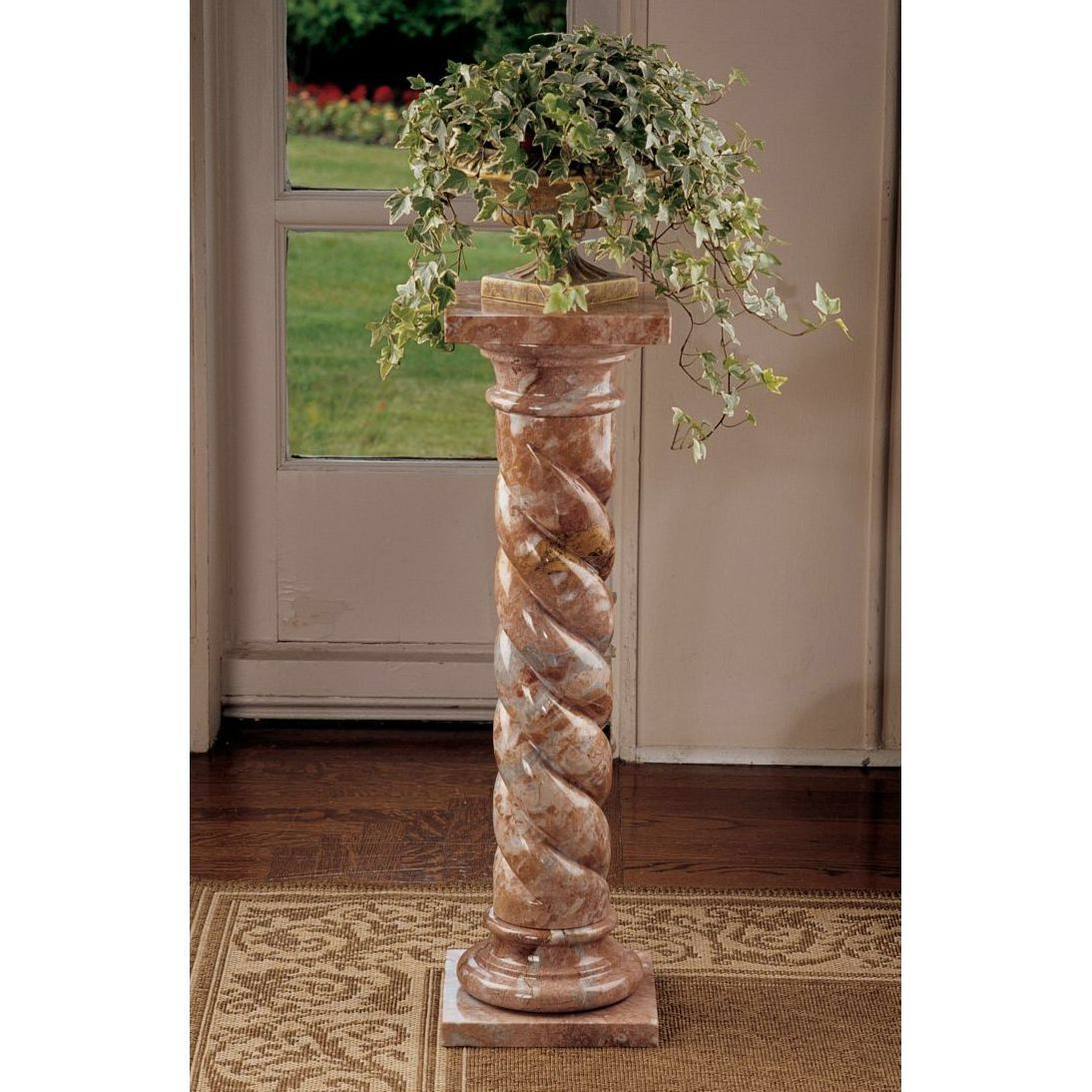 Venetian Doges Pedestal Plant Stand Marble Columns Design Toscano Venetian Mirrors