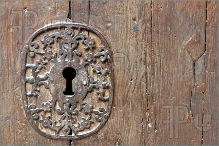 Picture of medieval lock picture on the left horizontal