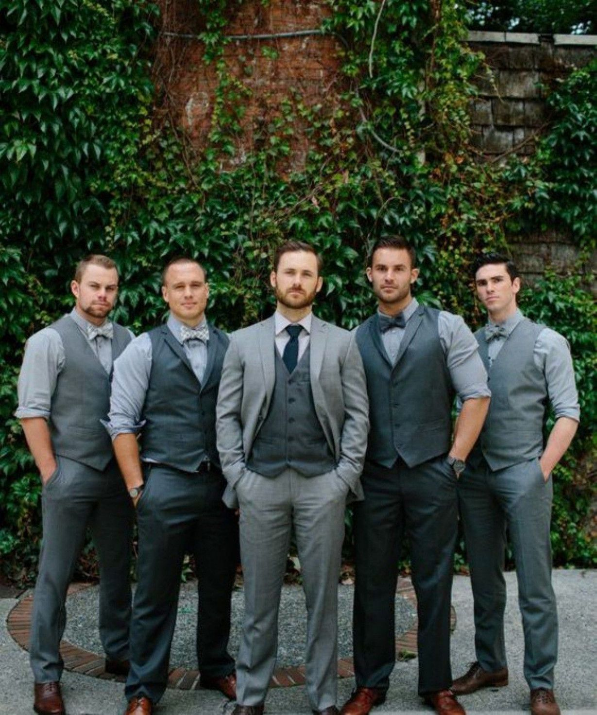 Rustic Wedding Attire For Groom Groomsmen Grey Wedding Groomsmen Mismatched Groomsmen