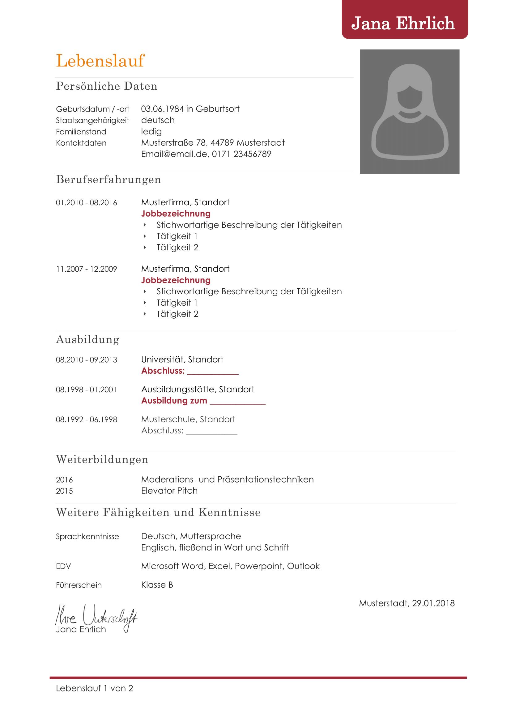 Frisch Der Perfekte Lebenslauf 2015 Briefprobe Briefformat Briefvorlage Lebenslauf Vorlagen Lebenslauf Vorlage Lebenslauf Kostenlos