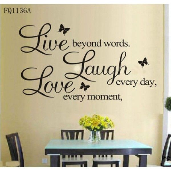 Amazing Quote Written On Wall As Walldecor Beautiful