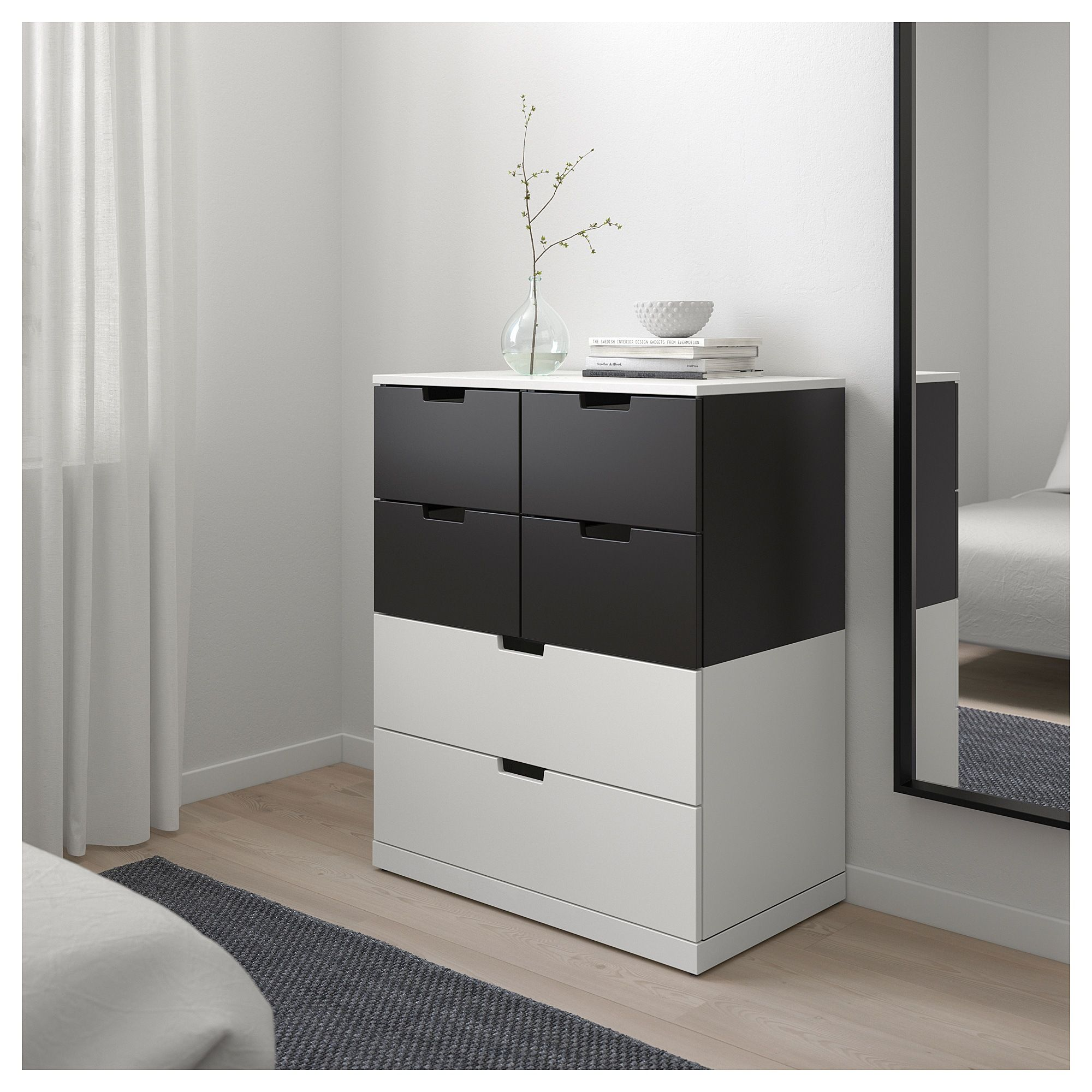newest 9668a ffb12 NORDLI 6-drawer dresser - white, anthracite | Ikea | 6 ...