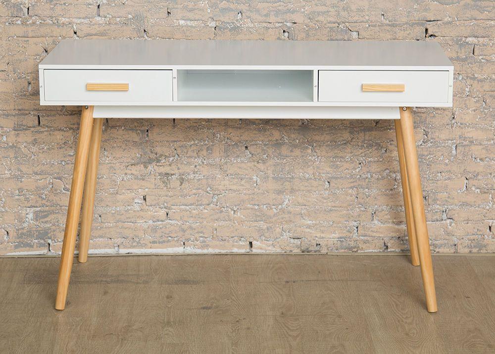 Astounding Scandinavian Modern Retro Style Desk With Wooden Legs Office Interior Design Ideas Oxytryabchikinfo