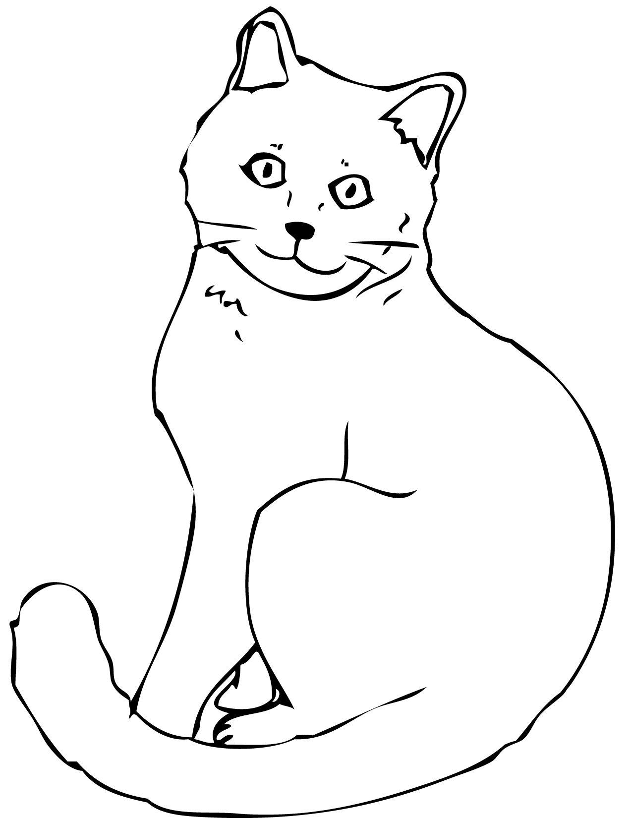 Nice Cat Pictures To Color For Kids Special Picture Kaarten Maken Kaarten Katten