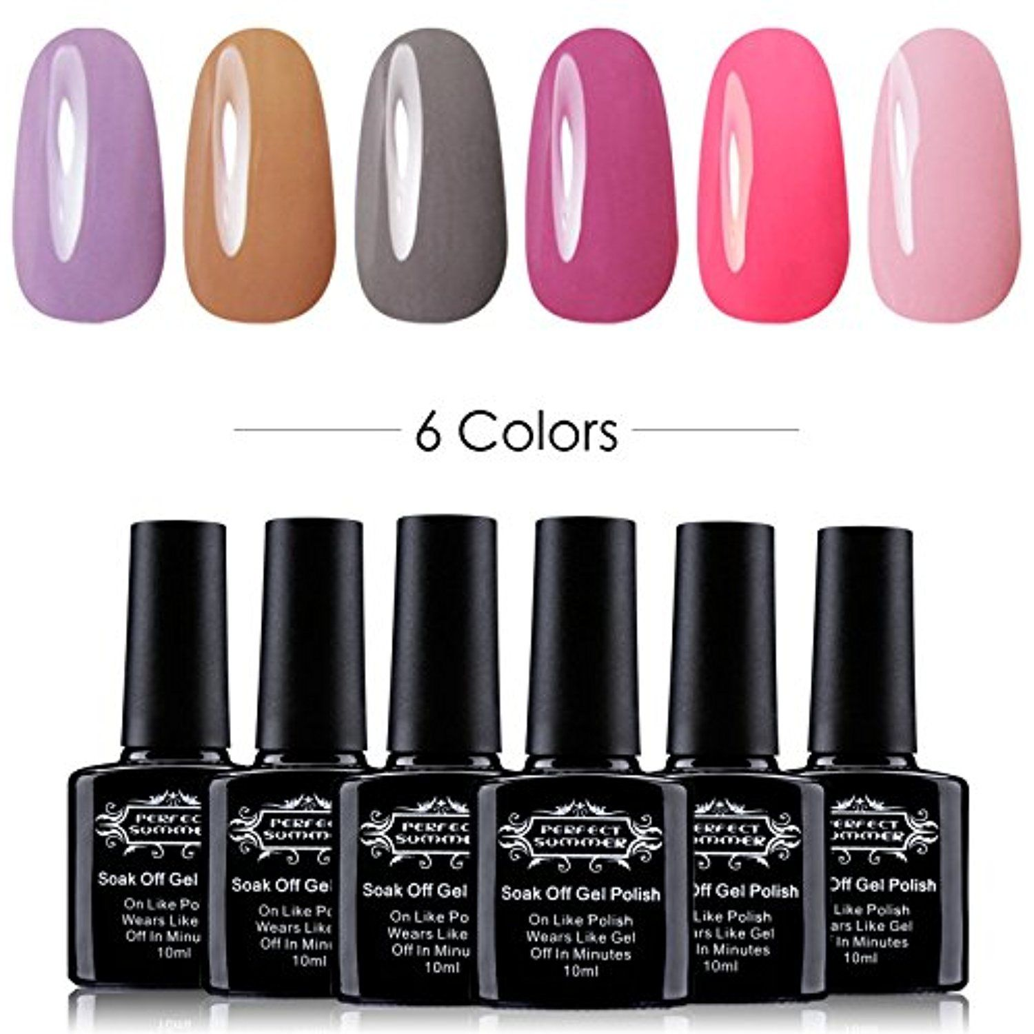 UV Led Gel Nail Polish Set Kit - Nail Lacquers Soak Off for French ...