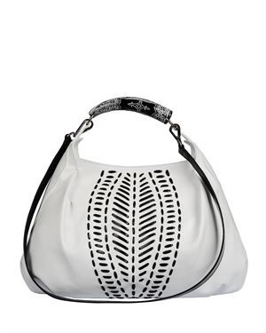 Silvio Tossi Stitched Two-Tone Leather Purse Made In Europe