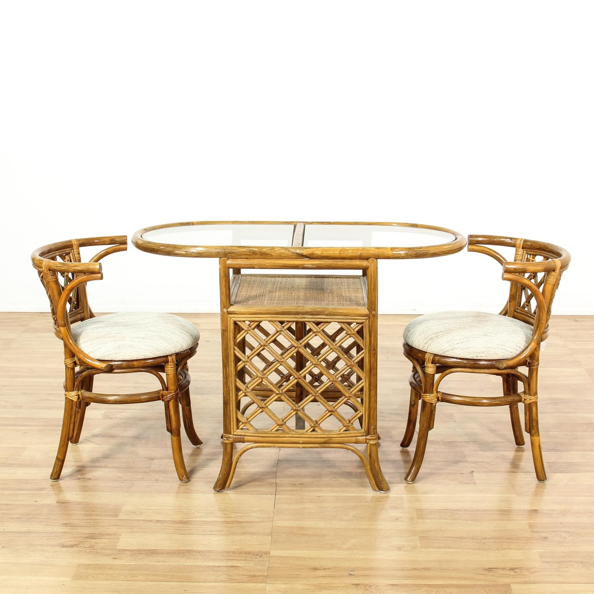 This Tropical Dining Set Is Featured In A Rattan With A Glossy Awesome Tropical Dining Room Chairs Inspiration