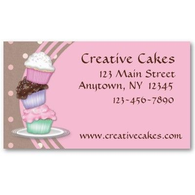 Cupcakes business card from httpzazzlecakebusinesscards cake business cards templates wajeb Images