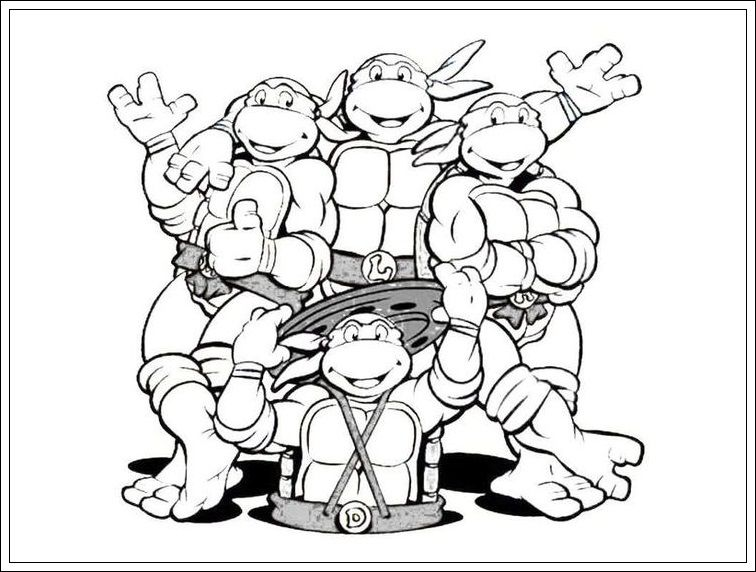 Ninja Turtles Bilder Zum Ausmalen Ausmalbilder Ninja Turtles