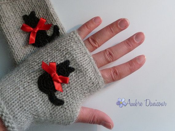 Light grey eco-friendly alpaca child size fingerless gloves ...