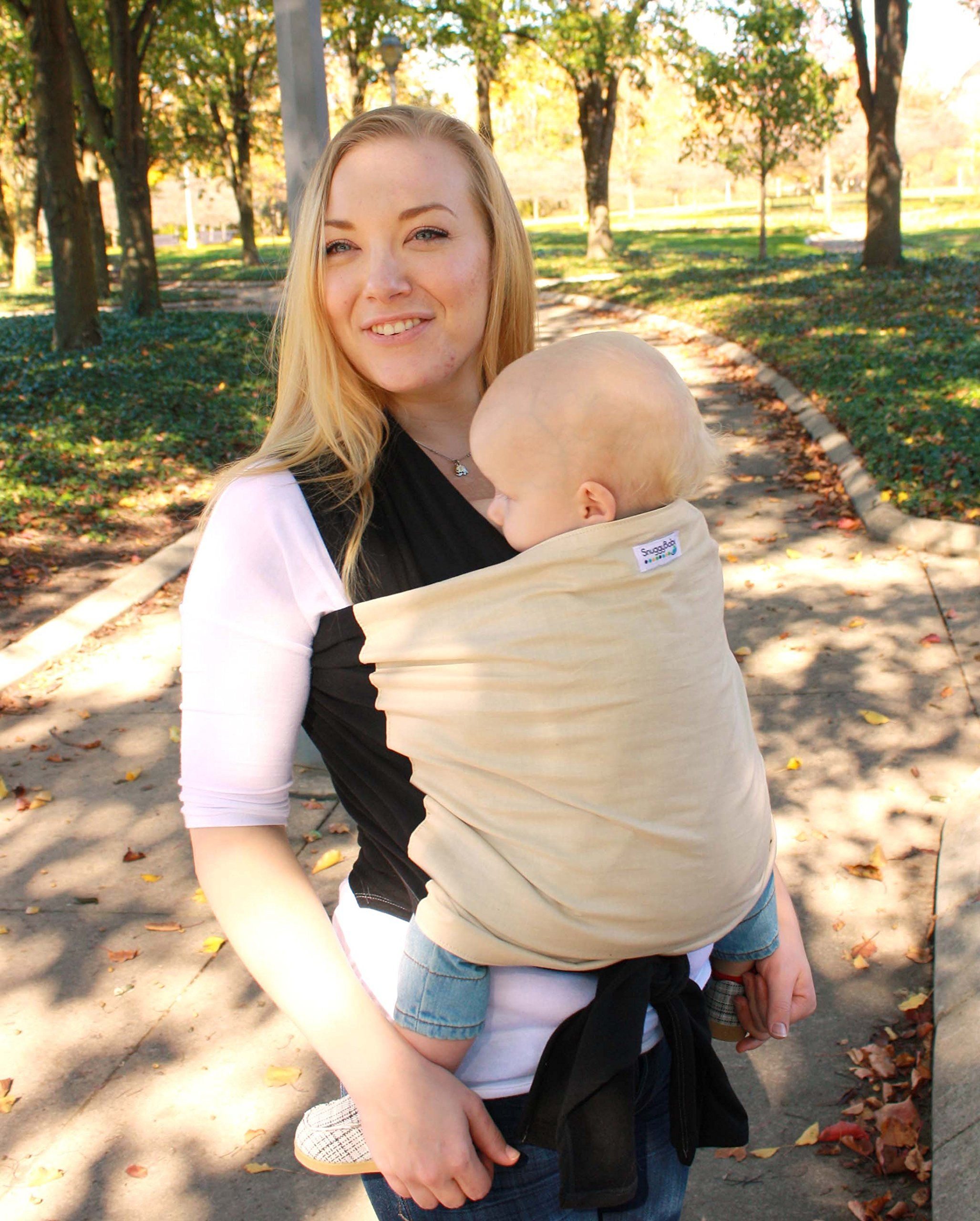 428a2eed150 Snuggy Baby Hybrid Stretch Wrap Black  BabyCarrier