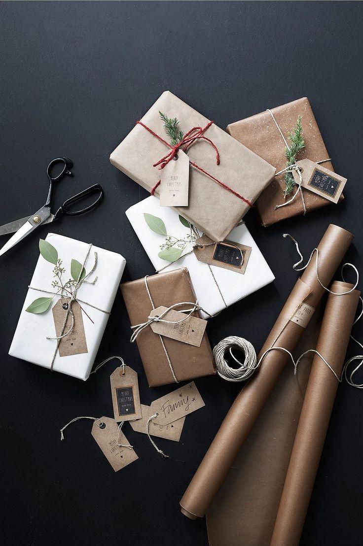 Brown Paper Gift Wrap Wrapping Pinterest Geschenke Verpacken