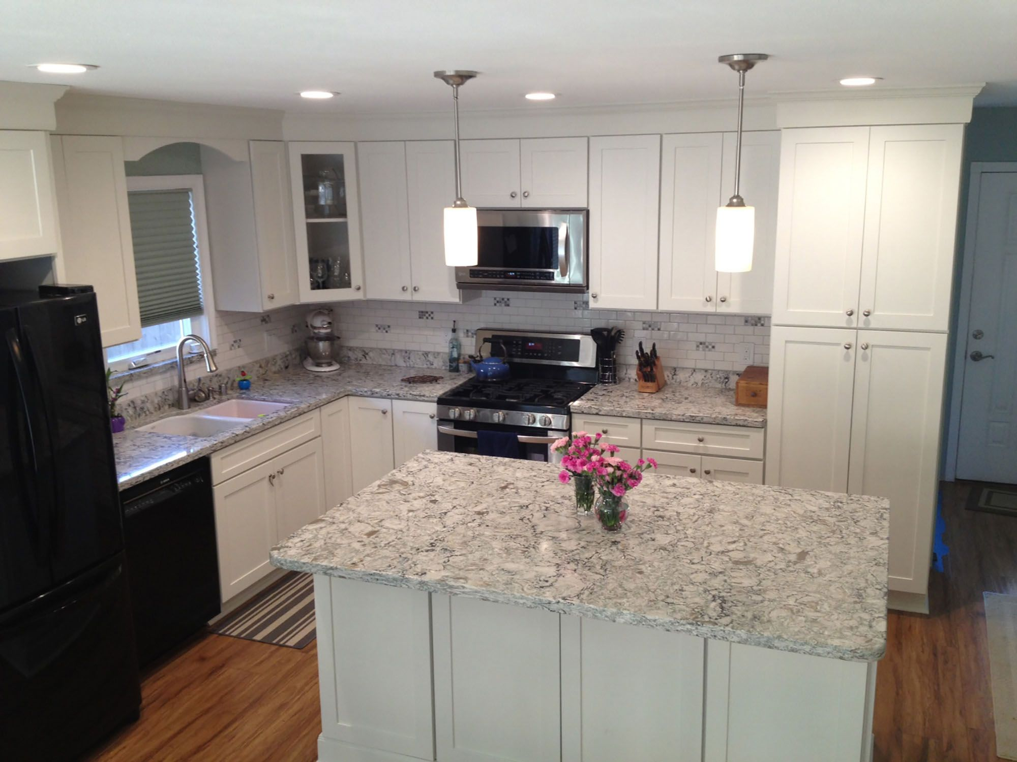 Diamond Bar California Remodeled Kitchen Has White Shaker Cabinets With Traditional C In 2020 Diamond Kitchen Cabinets Online Kitchen Cabinets Menards Kitchen Cabinets
