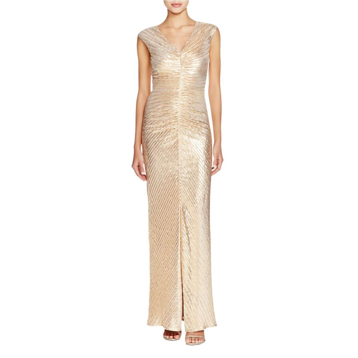 Womens vneck textured formal dress shelli segal and products