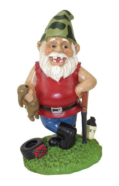 Gnome Garden Seasonal Figurine Skeeter The Redneck Garden Decor