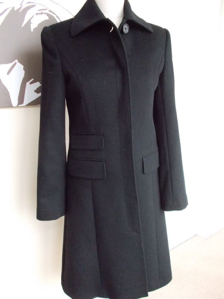 Austin Reed Ladies Black Wool Cashmere Coat 8new Fashion Clothing Shoes Accessories Womensclothing Coatsjacketsvests Eba Cashmere Coat Coat Black Wool