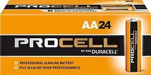 Aa Duracell Procell Alkaline Batteries 24 Pack Duracell Alkaline Battery Battery Sizes