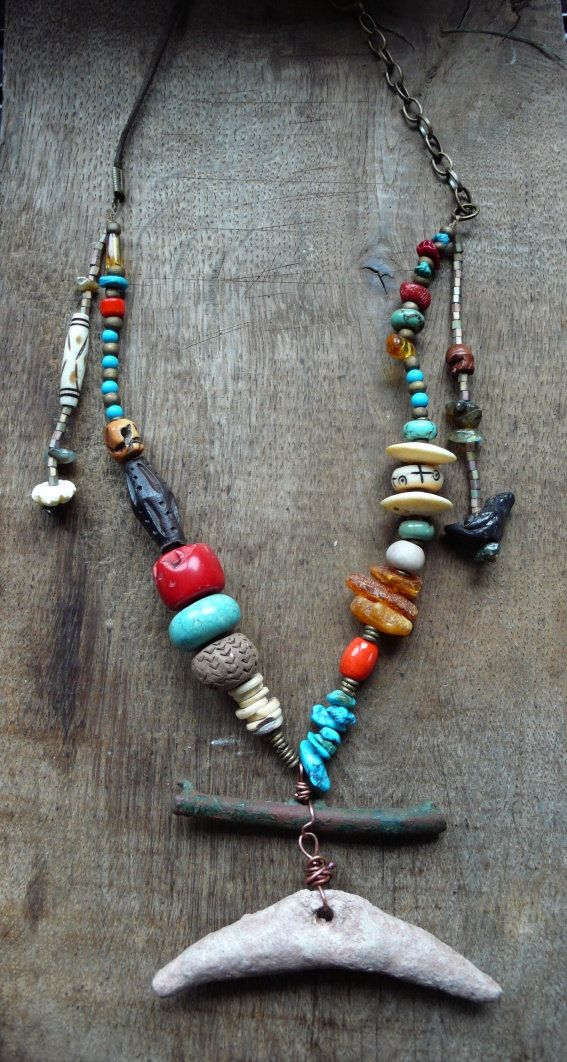 Ancient Salsa-talisman necklace