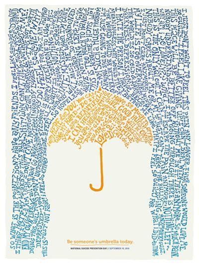 Be someone's umbrella today