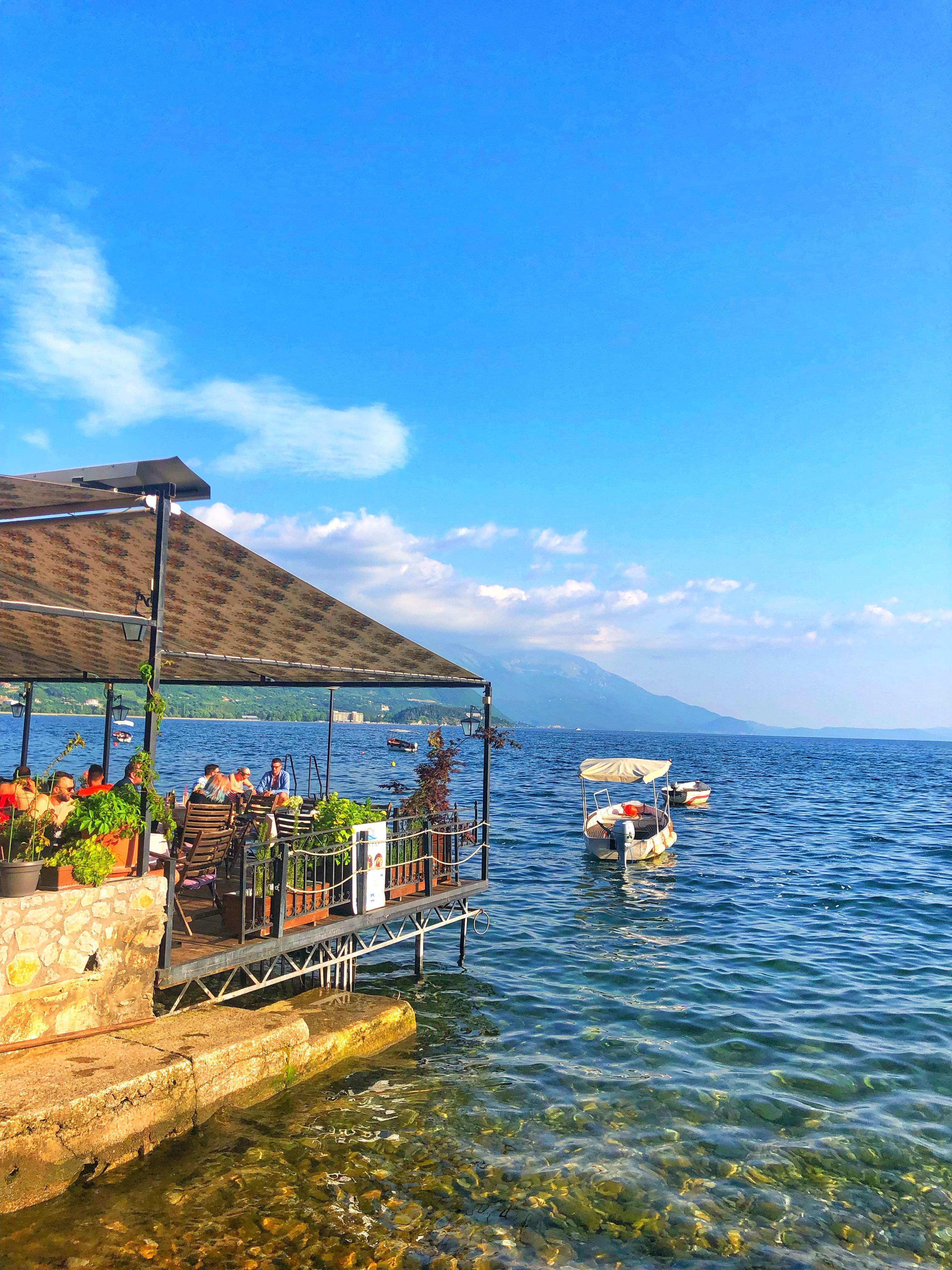 Restaurant Kaneo Meer Van Ohrid Macedonie Reistips Europa Rondreis