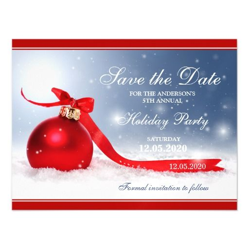 christmas party save the date magnets magnetic 5x7. Black Bedroom Furniture Sets. Home Design Ideas