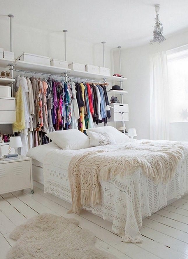 Studio Apartment Closet Solutions small space solution: 15 diy garment racks | garment racks