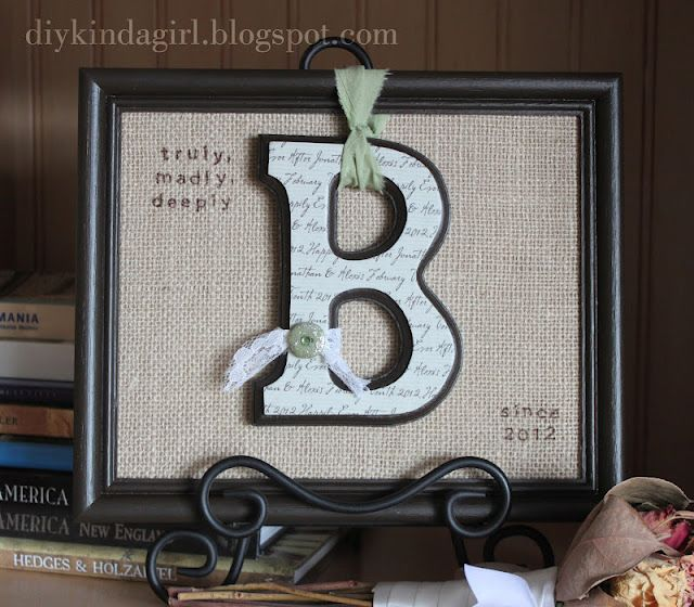 Wedding gift tutorial.  Wouldn't it also be cute for a new baby, with the addition of the baby's birth info.
