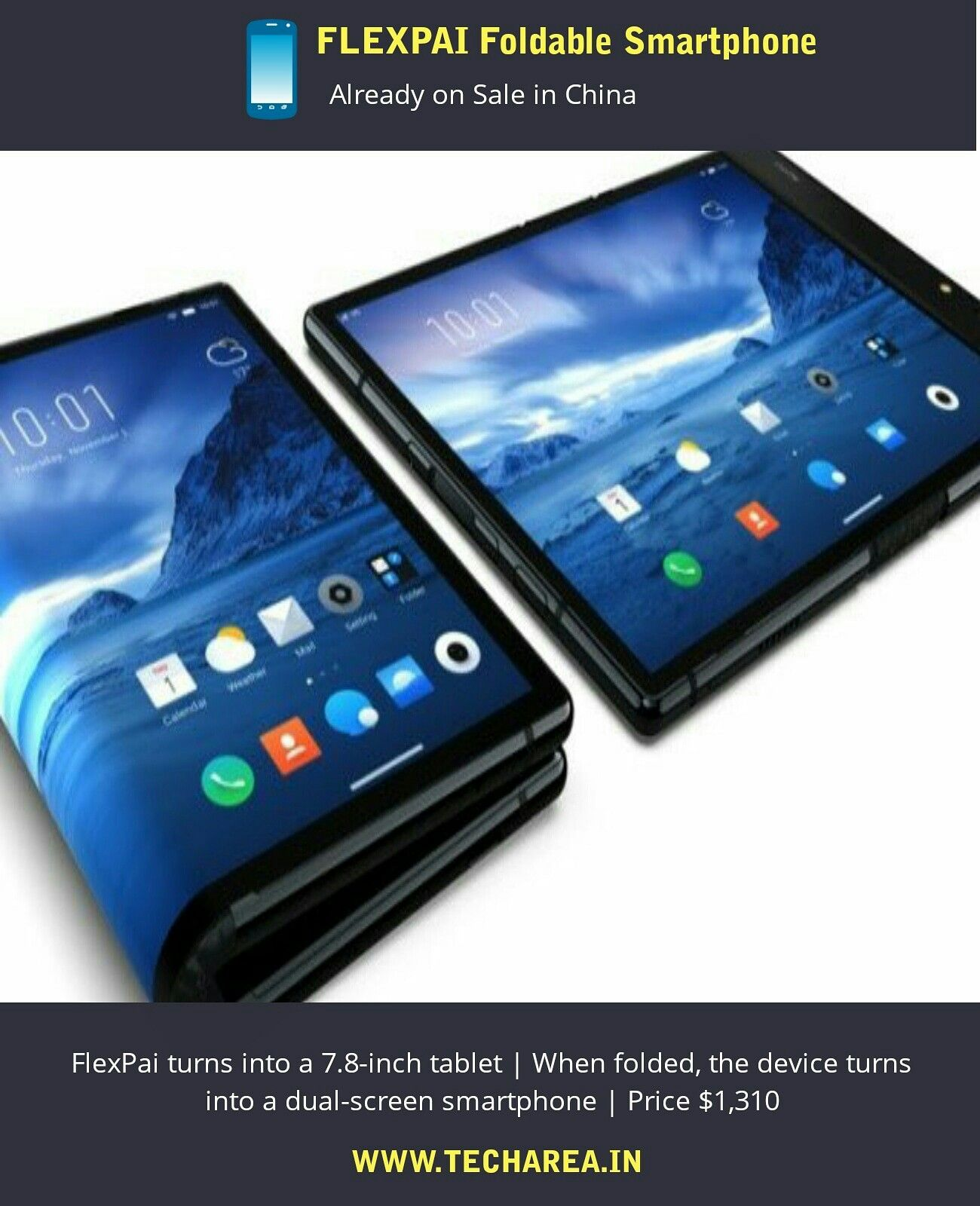 FlexiPai, the first official Foldable Smartphone visited