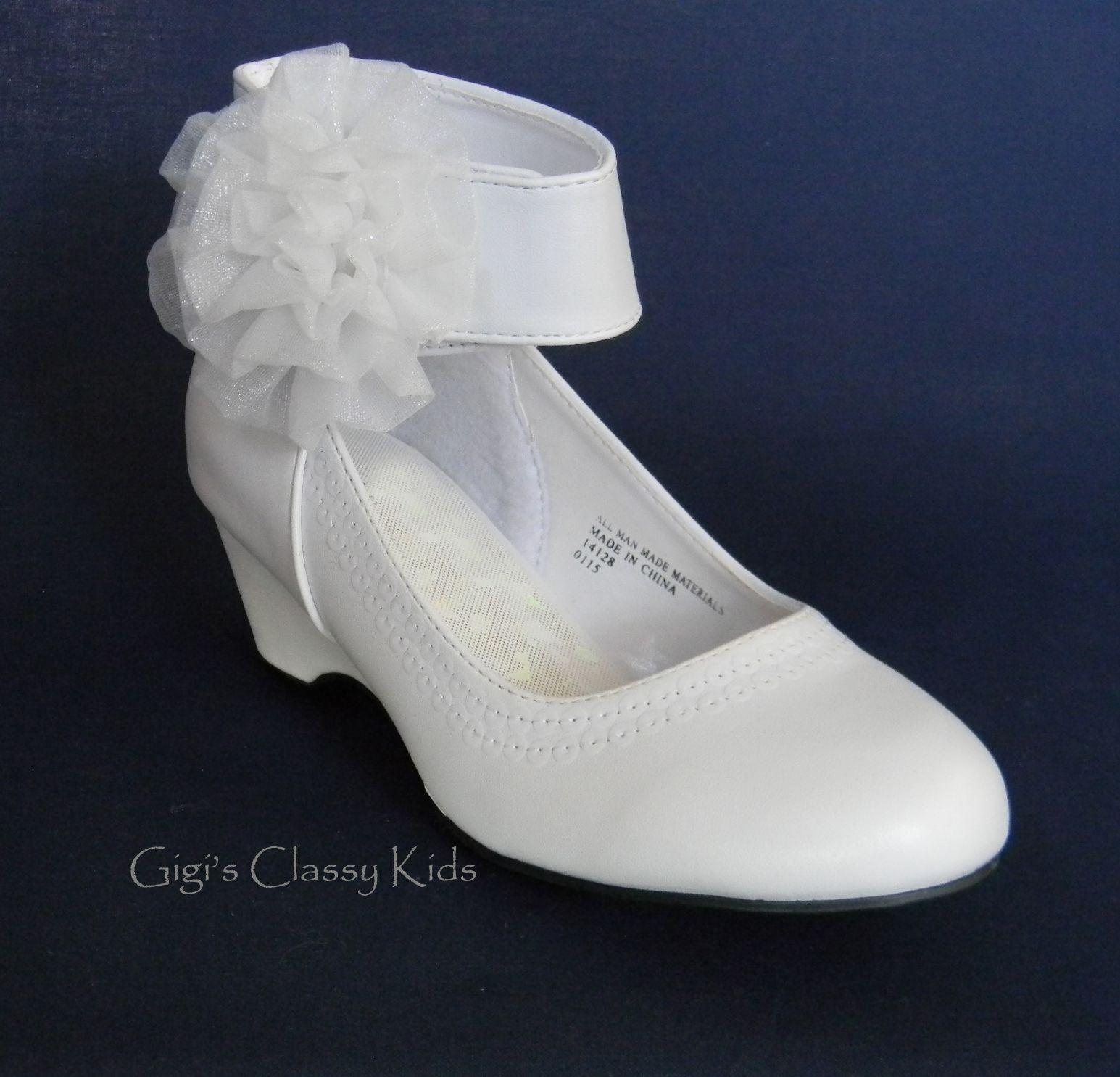 18++ Girls white dress shoes info