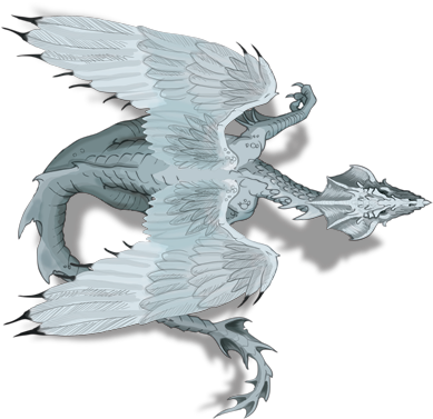 Open Full Size 8041 White Dragon Facing East Top Down Game Dragon D D White Dragon Token Download Transparent Png White Dragon Dragon Face Fantasy Monster