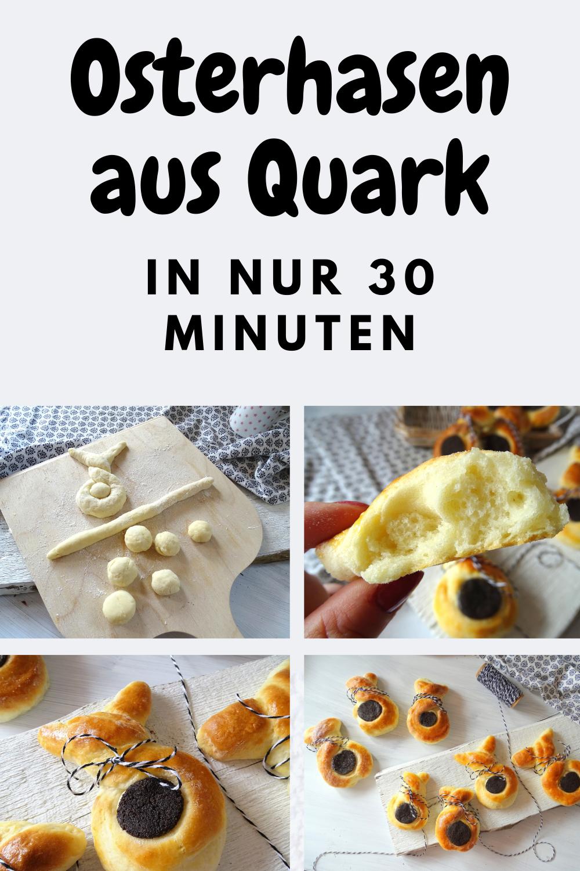 Ruck Zuck Osterhasen aus Quark ohne Hefe - Stacey&DessertRezepte