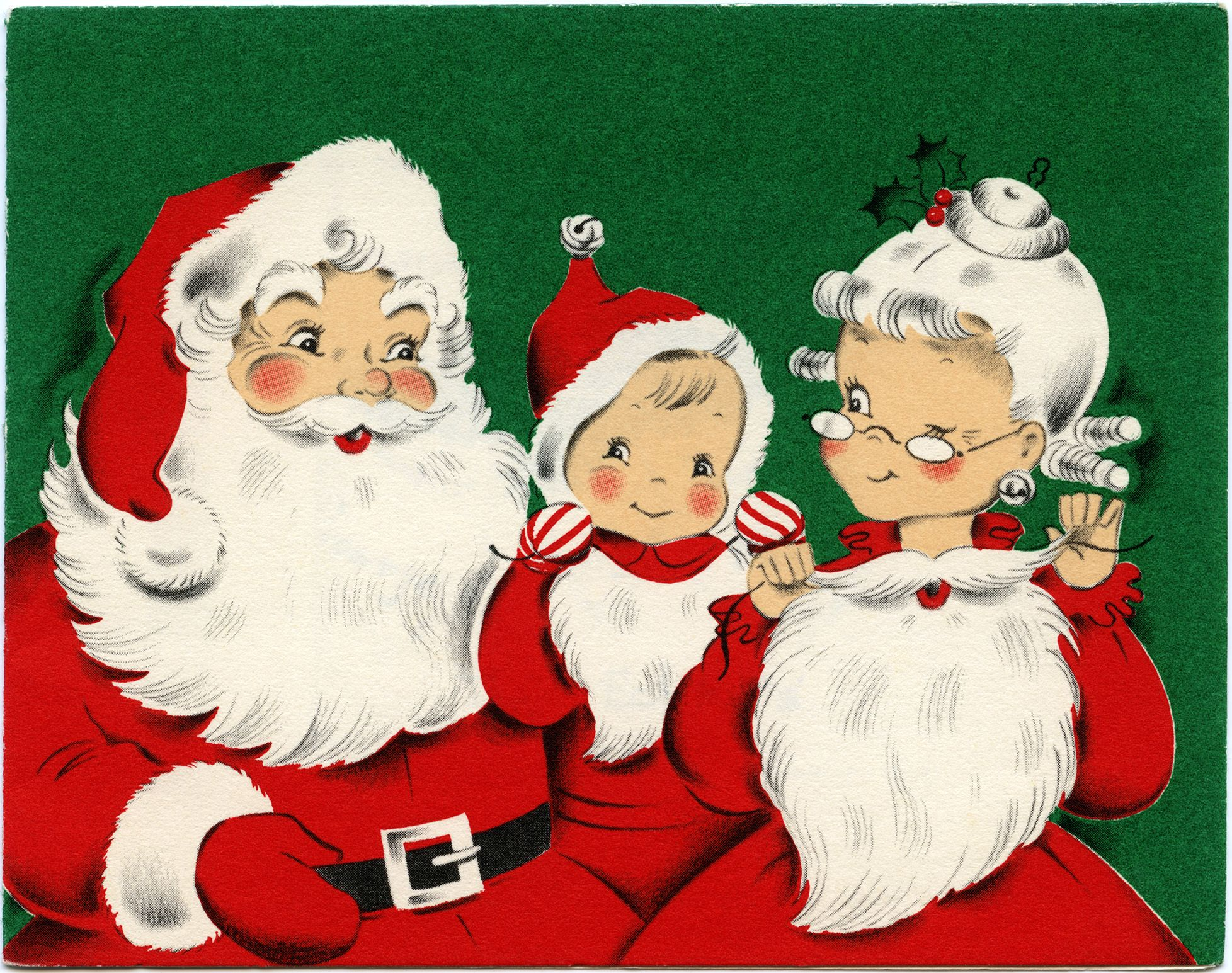 Image result for santas family clipart