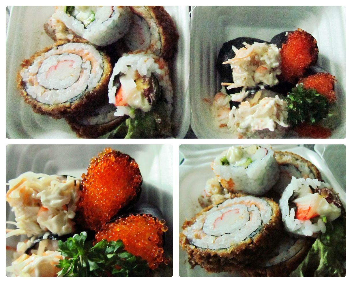 deep fried rolls, salmon-roe temaki (captured with canon sx30 is) #japan #food #maki #sushi