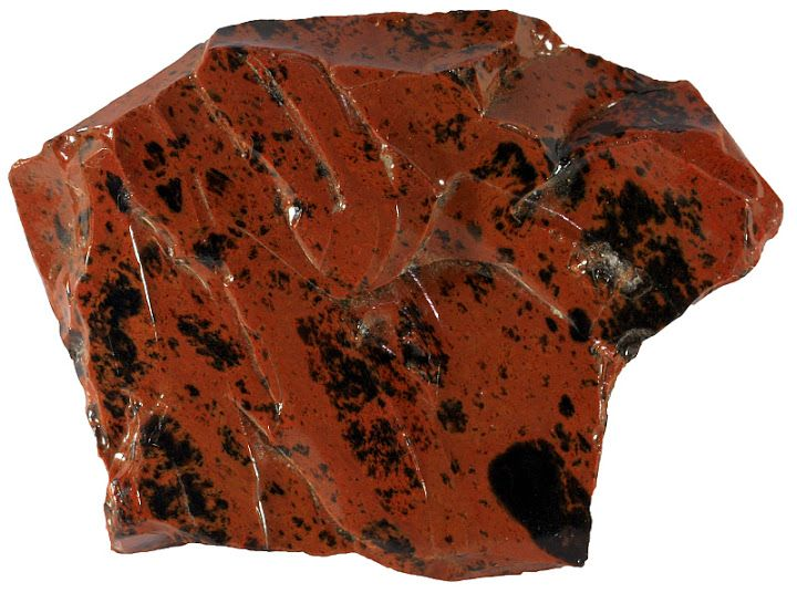 Red Obsidian Rock | Red obsidian from Turkey. Width of sample 8 cm.