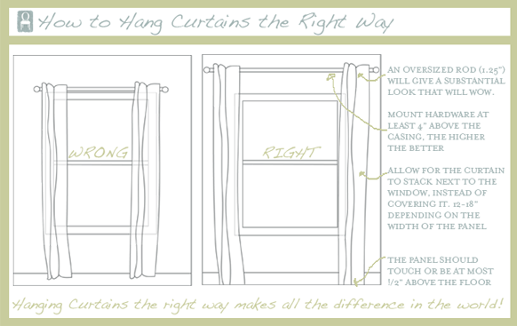 How To Hang Curtains  Make Your Windows Look Larger #drapes