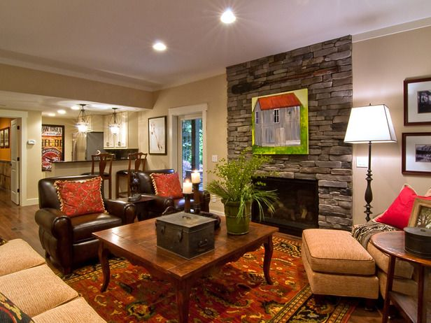 Basement Living Room Designs Amusing Basement Living Room From Diy Network Blog Cabin 2009  Basements Decorating Design