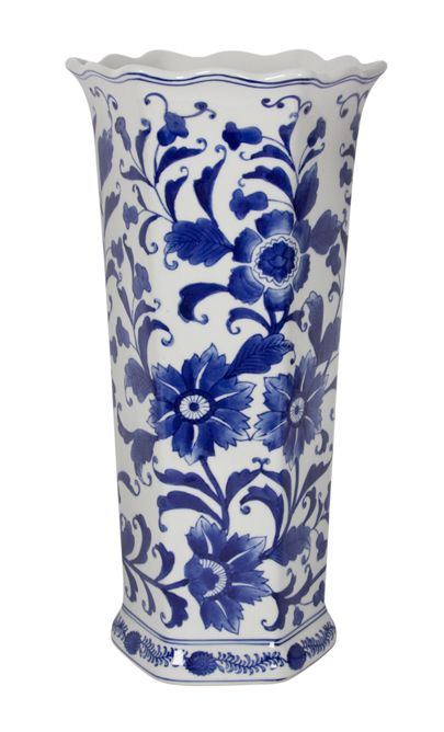 Pin By Lily Yang On Blue White Are Right White Umbrella Large Vase Decor Magazine