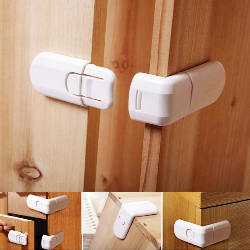 4Pcs Child Baby 22cm Corner Guards Safety Locks Cabinet Lock Edge Protection