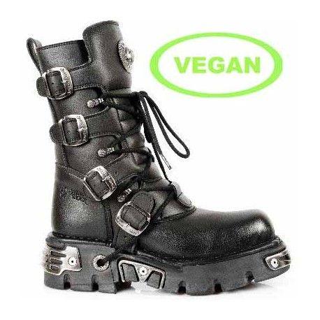 Zapatos negros vintage New Rock para mujer Es79kAZds