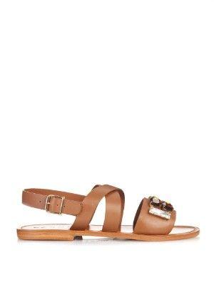 Crystal-embellished leather sandals | Marni | MATCHESFASHION.COM