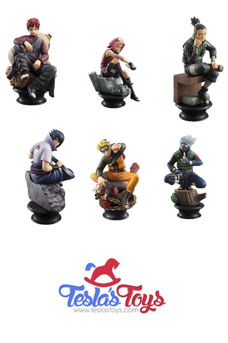 6 pcs Naruto Figures Chess Set Uzumaki Kakashi Sasuke Gaara Sakura Shikamaru