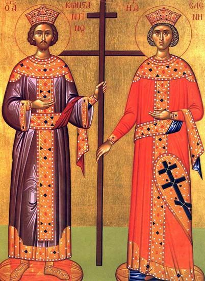 icono santa elena y constantino