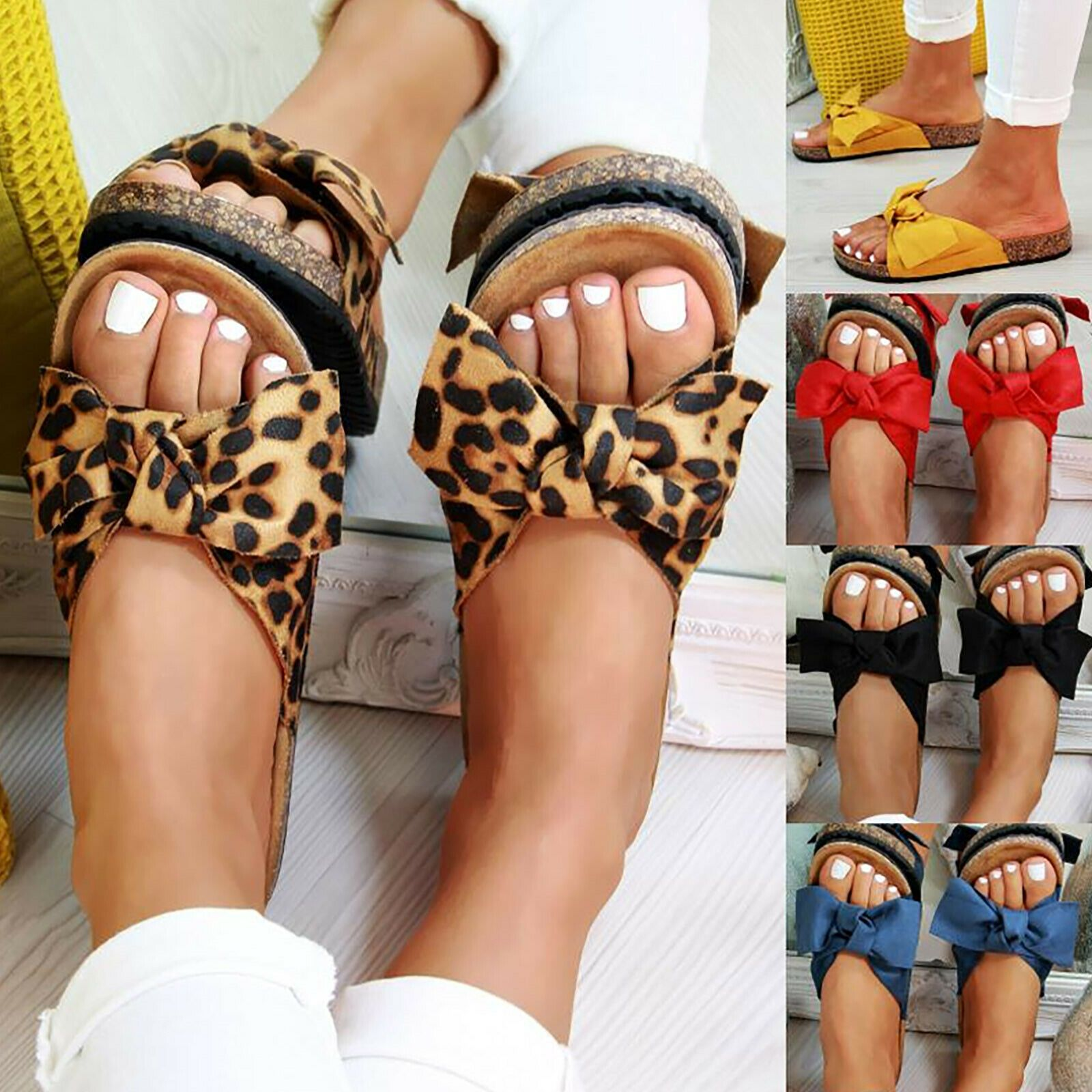 Women Flatform Platform Bow Sandals Flip Flop Slipper Summer Peep Toe Flat Shoes Flip Flop Ideas Of Flip In 2020 Sandals Summer Womens Sandals Summer Bow Sandals