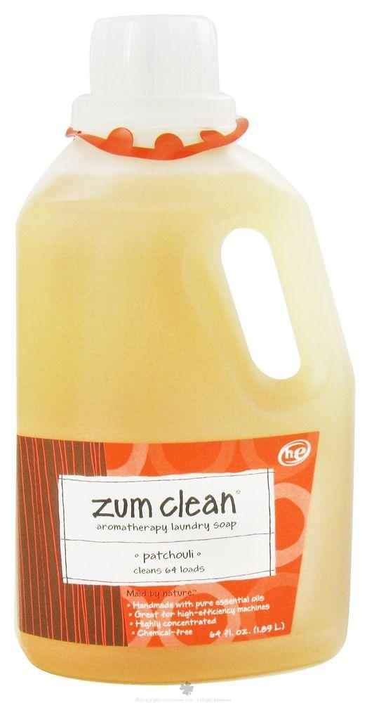 Zum Clean Aromatherapy Laundry Soap 64 Loads Patchouli 64 Fl Oz