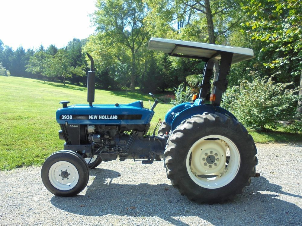 New Holland Ford 3930 Tractor 52 Hp 2 Wheel Drive With Canopy 1999