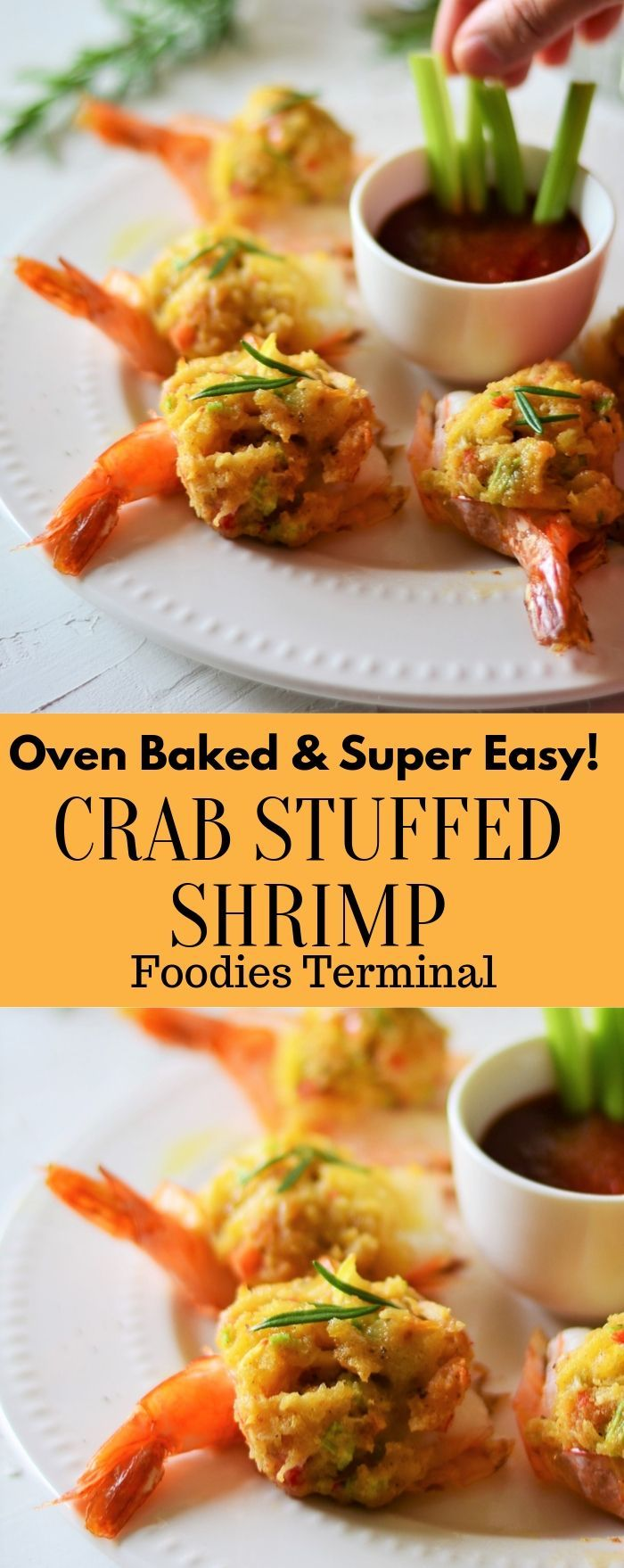 Easy Baked Stuffed Shrimp with Crabmeat & Ritz crackers.