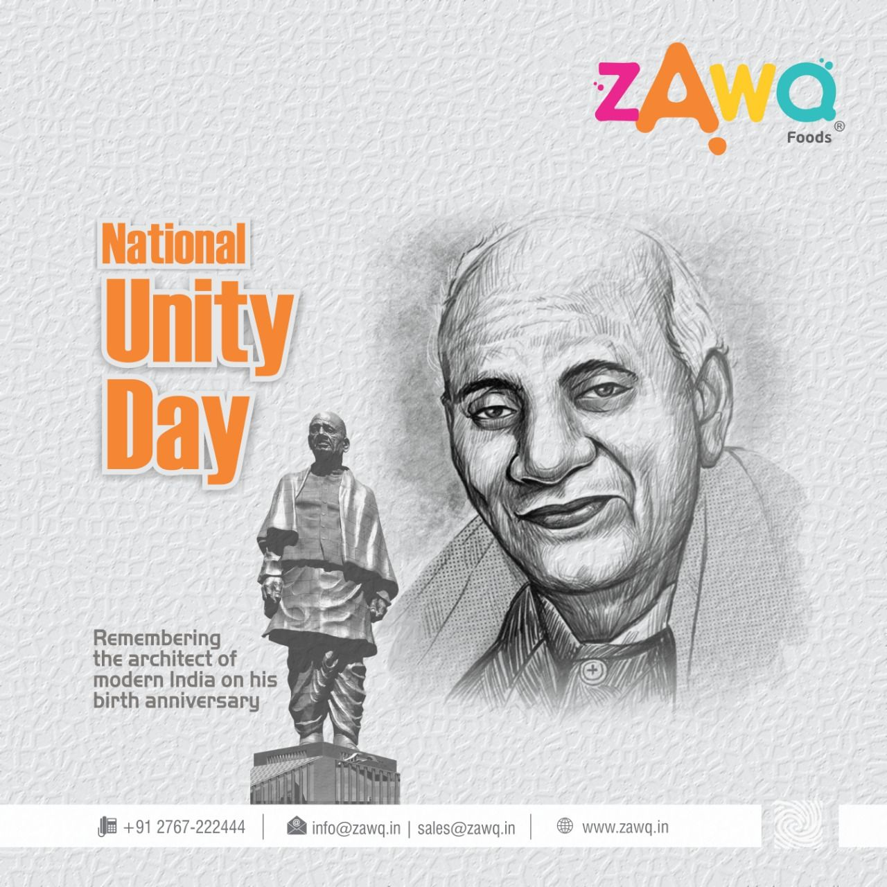 Remembering The Architect Of Modern India On His Birth Anniversary National Unity Day Zawq Namkeen Instafood Snacks Foods N Unity Day Indian Festivals
