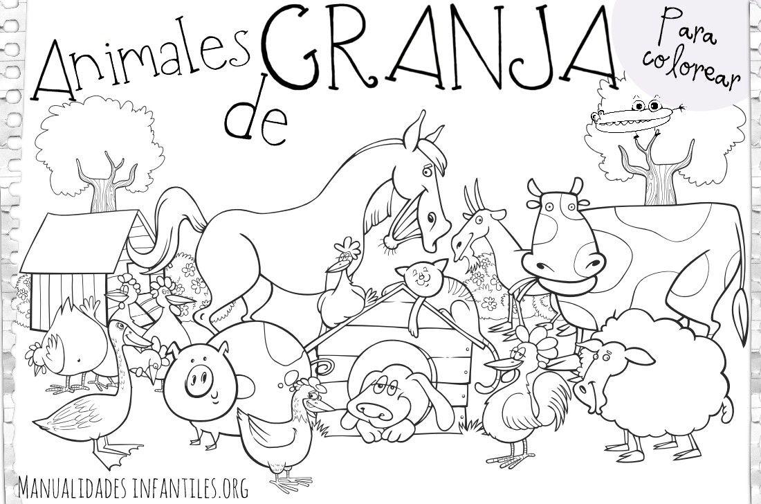 Dibujos Los Animales De Granja Dibujos Para Pintar | la ... | Para ...